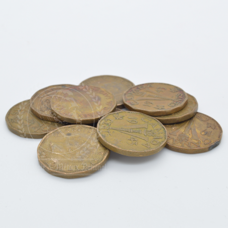 10 x 1943 5 Cent Tombac -...